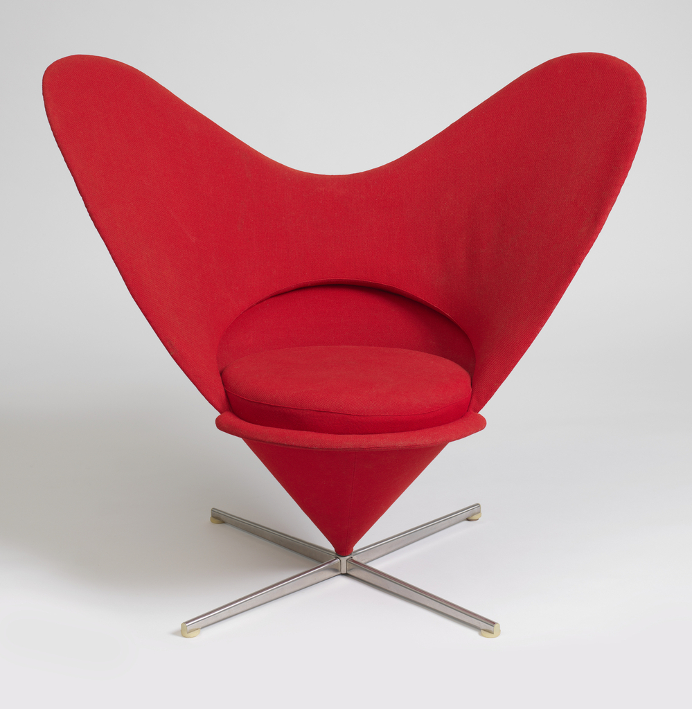 Theresa Seabaugh Interiors, Brooklyn Interior Designer, nyc interior designer, heart cone chair, cooper hewitt museum, design museum, red chair, mid century modern, vitra AG
