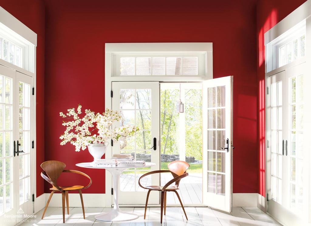 benjamin moore, caliente, red, seabaugh interiors, brooklyn interior designer