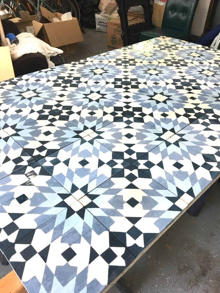 kitchen renovation, Tesselle cement tiles